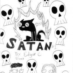 My Cat is Satan by Edgar Castro